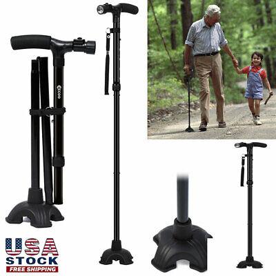 Available HurryCane All-Terrain Pivoting Base Foldable Walking Stick Cane 2Style