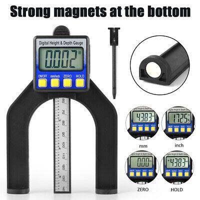 Digital Height Depth Gauge Gage Metric Measuring Router Table Saw Tool Bi1336