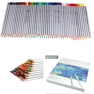 Marco Fine 48 Colors Art Drawing Oil Base Non-toxic Pencil Set For Artist Sketch