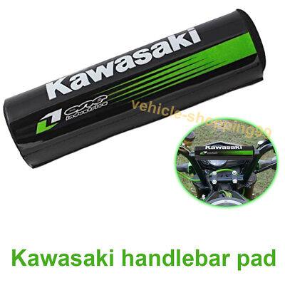 (Kawasaki Handlebar Pad Black Motorcycle Crossbar Motocross Off Dirt Bike ATV Bar)