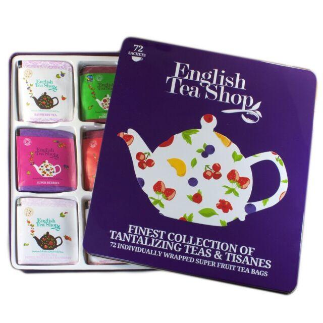 English Tea Shop Super Fruit Gift Tin 72 Sachet Tea Bags