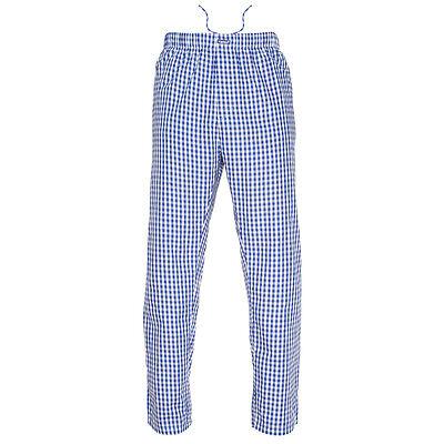 - Ritzy Men's Pajama Pants 100% Cotton Plaid Woven Poplin ComfortSoft - B&W Checks