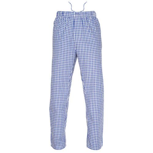 Ritzy Men/Kids/Boys Pajama Pants 100% Cotton Plaid Woven Poplin - BL & WH Checks