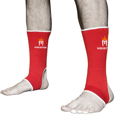 MEISTER RED MUAY THAI ANKLE SUPPORTS ADULT - MMA Wraps Compression Kickboxing