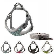 Reflective Dog Harness Leash Set Adjustable Small Medium