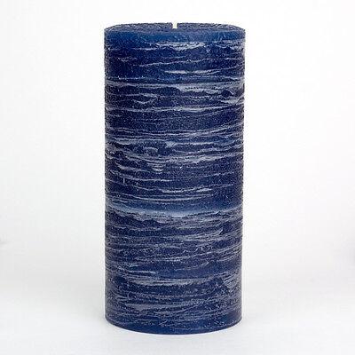 Navy Blue Pillar Candle - Rustic 3x6