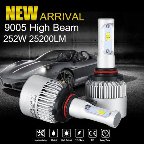 25200LM 252W 9005 HB3 Philips LED Headlight Kit High Beam Bulbs 6000K Power 2pcs