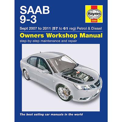 Saab 9-3 Haynes Manual 2007-11 2.0 Petrol 1.9 Diesel Workshop Manual
