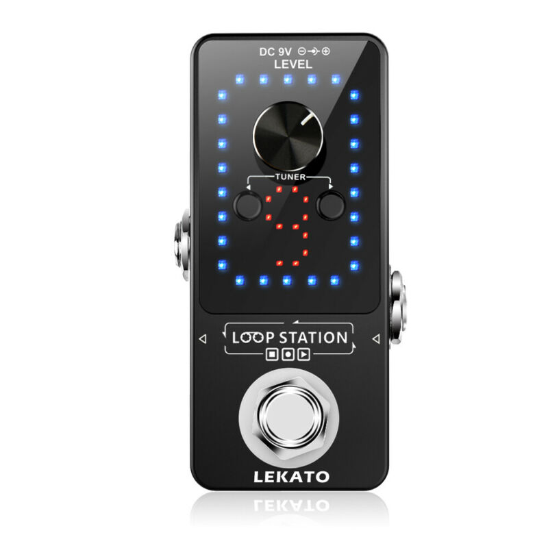 LEKATO Looper Mini Effect Pedal Guitar Tuner 40 Mins 9 Wave Slot USB Record Loop
