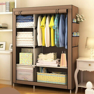 Heavy Duty Portable Closet Storage Organizer Clothes Shelf