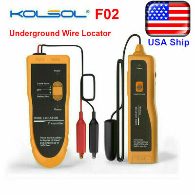 Us Ship F02 Underground Wire Locator Cable Tester With Earphone Locate Wires
