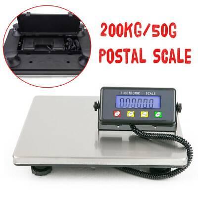 Heavy Duty Digital Postal Parcel Scale Weighing 200kg/50g Platform Postage KG/LB