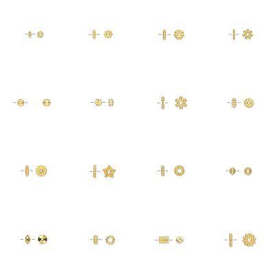 Flower Tube Spacer Beads (100 Bright Gold Spacer Beads Findings Daisy Flower Star Rondelle Beaded Tube )