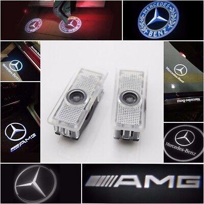 Lyauta 2 Pieces Car Door Lights Car LED Puddle Light Ghost Shadow Ligh For Merc-edes Benz 06