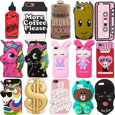 brand new 862da 53b0e Details about 2018 3D Cartoon Soft Silicone Phone Case Back Cover For  iPhone X SE 5 6 7 8 Plus