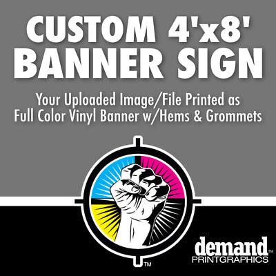 4 X 8 Custom Banner Business Sign Vinyl Banner Full Color