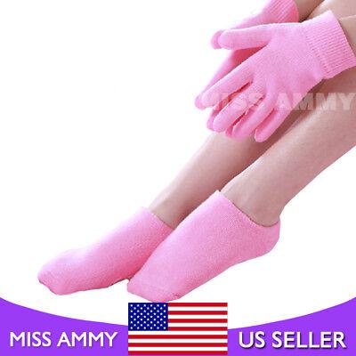 Rose Spa Gel Gloves&Sock Hand Mask Foot Cracked Skin Care Moisturizing Treatment (Moisturizing Glove Moisturizer)