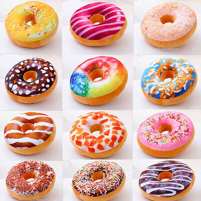 New 12 Styles Doughnut Donut Shaped Ring Plush Soft Novelty Style Cushion Pillow](Plush Donut)