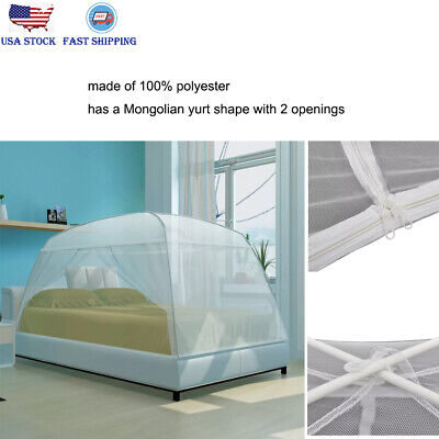 Folding Insect Mongolia Bed Mosquito Net Bedding Outdoor Netting Queen King (Outdoor Queen Size Bed)