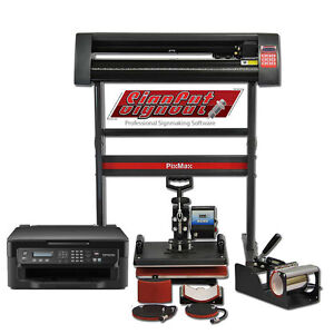 Heat Press 5in1 Combo Vinyl Cutter Plotter Printer
