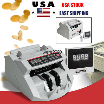 Auto Bill Money Counter Machine Currency Cash Counting Counterfeit Detector 2020
