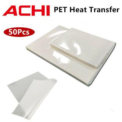 50 Pcs Pet Heat Transfer Film A3 Size Tshirt Dtf Printer Transfers Film