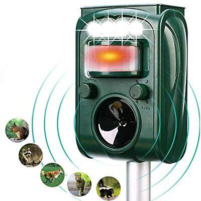 FAYINWBO Dog Cat Animal Repeller, Outdoor Solar Ultrasonic With Motion Sensor