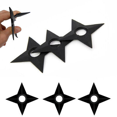 Set of 3 Ninja Training Throwing Stars Practice Foam Rubber Shuriken