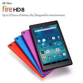 FIRE HD8 TABLET 16GB NEW