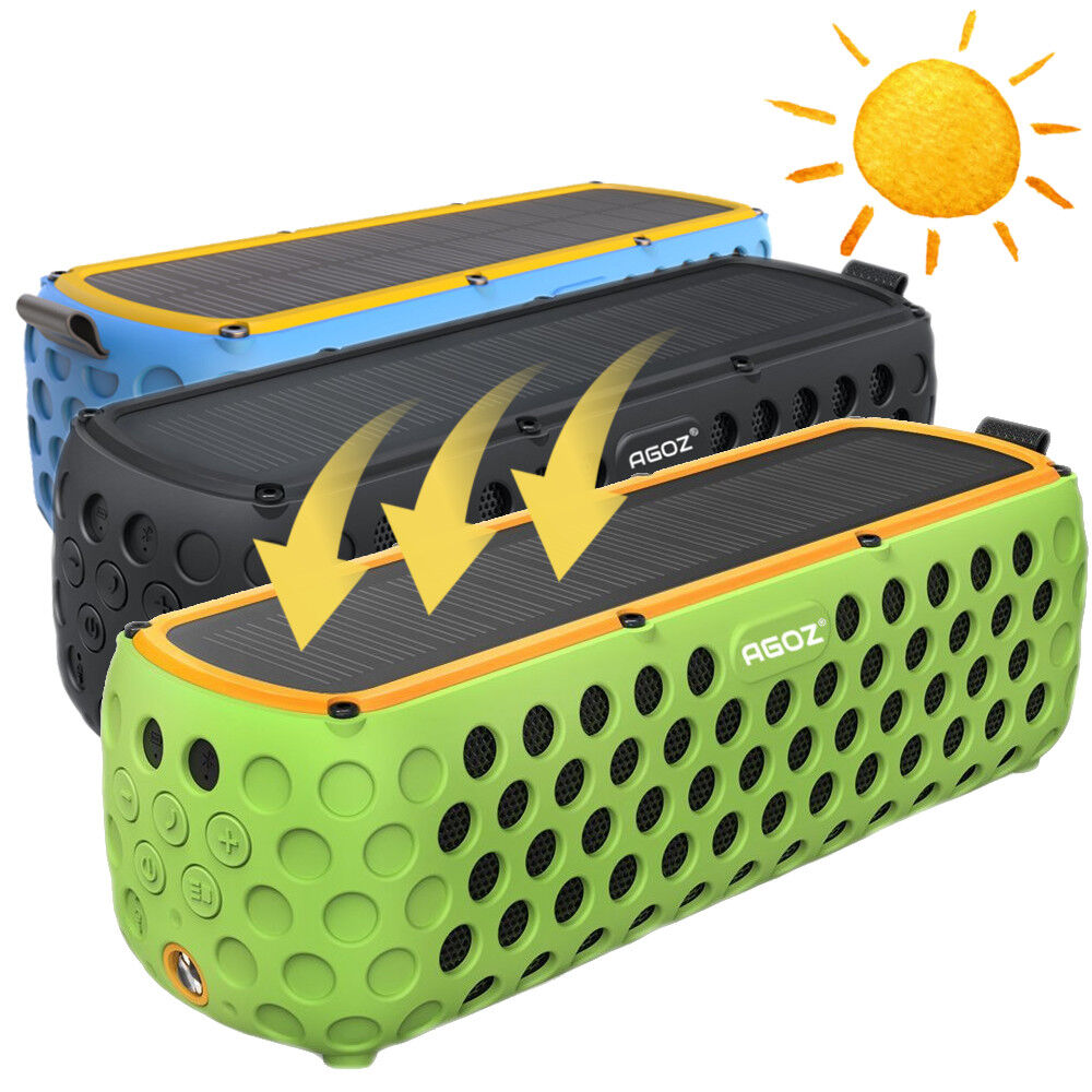 Solar Powered Portable Outdoor Wireless Bluetooth Speaker Fo