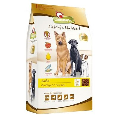 4kg GranataPet Lieblings Mahlzeit Trockenfutter Junior Geflügel Hundefutter