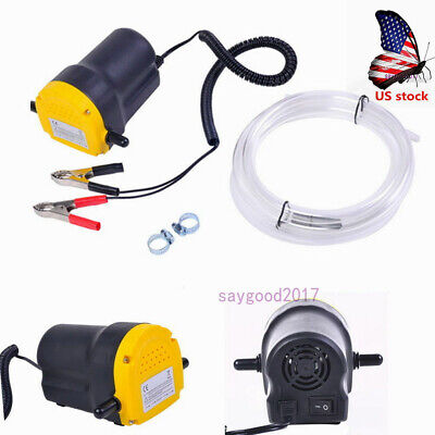 Us 12v Portable Electric Suction Oil Pump Motor Oil Diesel Fuel Extractor Pump