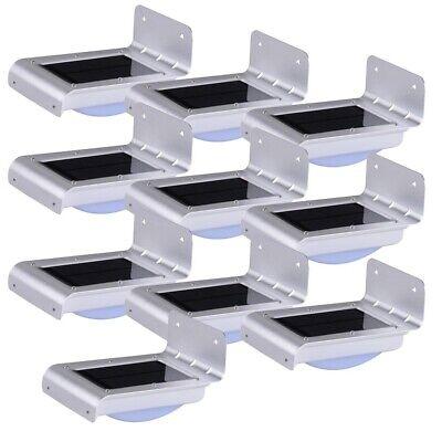 10PCS 16 LED Solar Power Motion Sensor Garden Outdoor Waterp