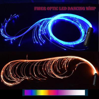 LED Fiber Optic Dancing Whip Rave Light Whip 360° Radial Swivel Flow