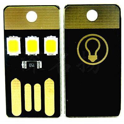 2pcs USB LED Portable Night Light Bright Mini Keychain Camping Car Lamp -