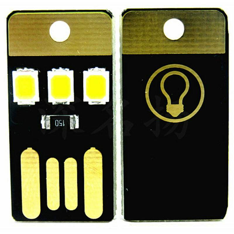 2pcs USB LED Portable Night Light Bright Mini Keychain Camping Car Lamp Module