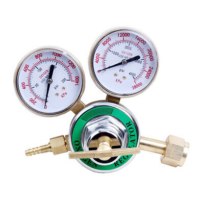 Oxygen Pressure Regulator Welding Gas Welder Torch Cutting Pressure Gauge Cga540
