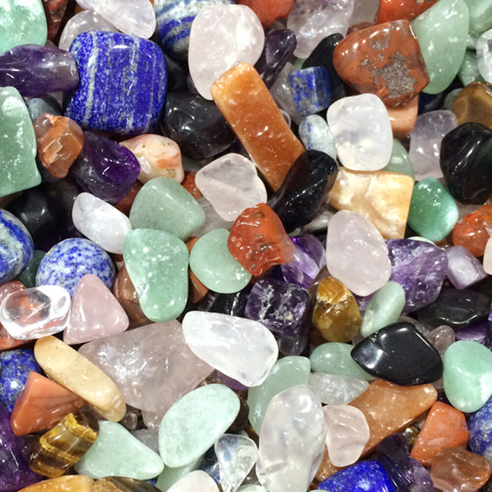 50g colorful mixed assorted bulk tumbled