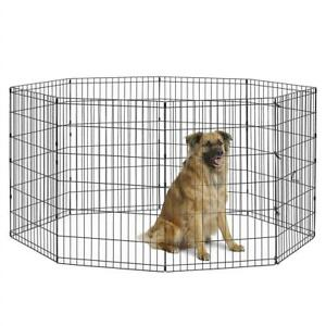 NEW New World Pet Products B554-36 Foldable Exercise Pet Playpen, Black, Intermediate/24 x 36 Condtion: New, Med/ L...
