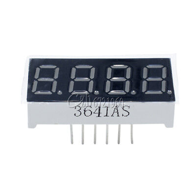 2pcs 7 Segment 4 Digit Common Cathode 0.36 Inch Red Led 0.36 Digital Display
