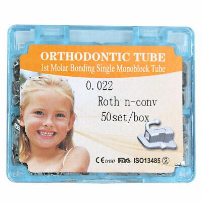50 Setsbox Dental Orthodontic 1st Molar Non-convertible Roth 0.22 Buccal Tube
