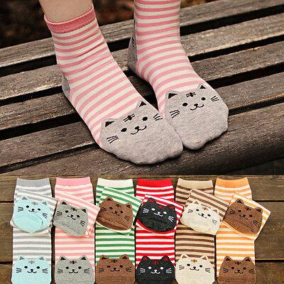 1 Paar Frauen 3D Mode Gedruckt Tier Casual Socken Nette Katze Low Cut Socken