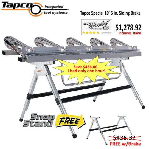 "Tapco ""Windy"" SP 10.5 ft. Special Siding Brake $436 Stand included FREE!"