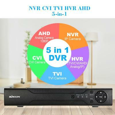 Best Home Security CCTV 4CH 1080N/720P AHD DVR NVR Email Alarm Phone APP