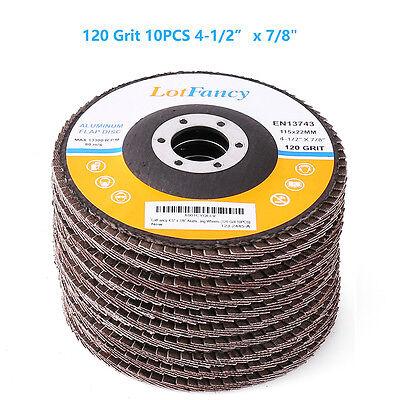 10pcs 4-12 4.5 78 120 Grit Flap Sanding Grinding Discs Angle Grinder Wheels