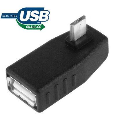 Adaptador Angulo 90º Micro Usb Macho a USB AF 2.0 Hembra con...