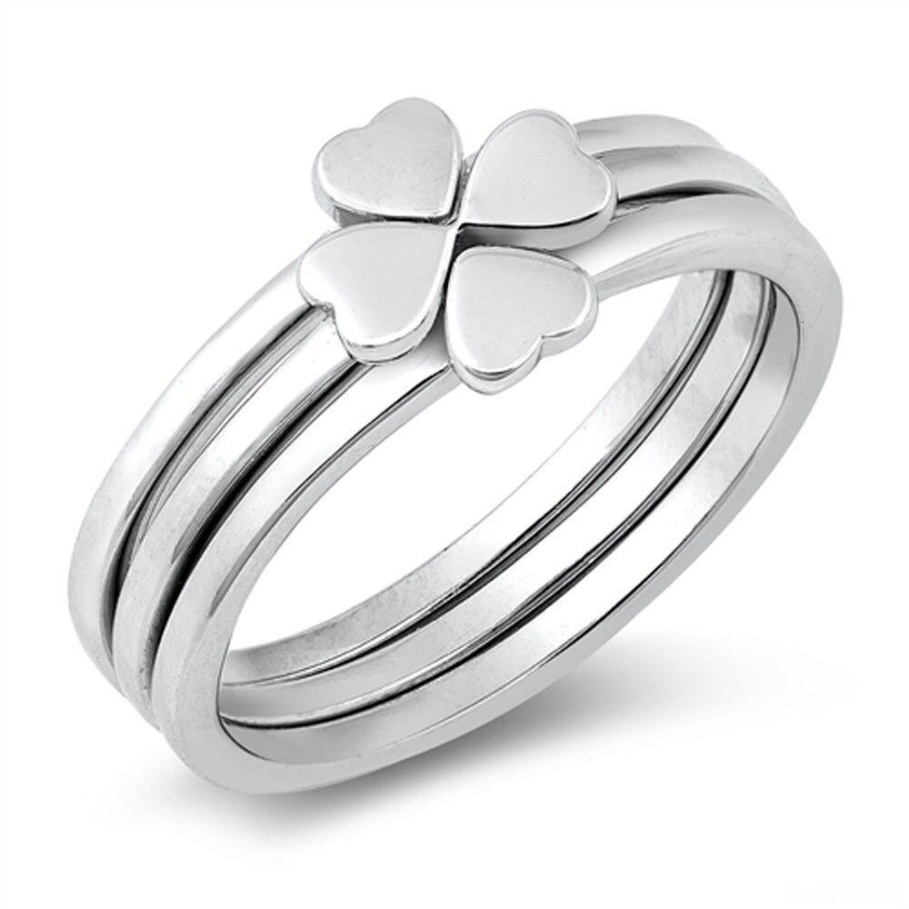 Clover Leaf Ring .925 Sterling Silver Ring sizes 5-10