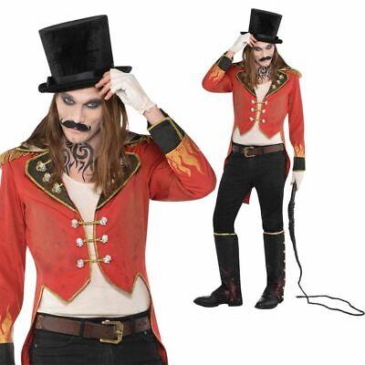 Halloween Zirkusdirektor Herren-Kostüm Gr. M/L Jacke Frack Horror - Zirkusdirektor Kostüm Jacke
