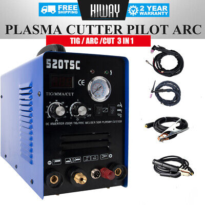 Dc Inverter 3 In 1 200a Tig Arc Air Plasma Cutter Welding Machine Pilot Arc