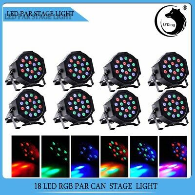8PCS Bühnenlicht 54W RGB 18LED Par CAN DMX 7CH Disco Pub Party Stage Lichteffekt - Par Pc